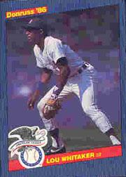 1986 Donruss All-Stars #11 Lou Whitaker