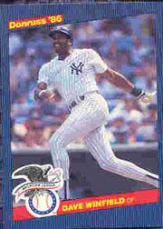 1986 Donruss All-Stars #15 Dave Winfield