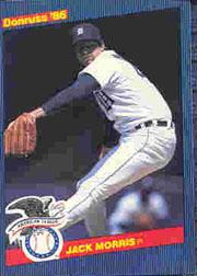 1986 Donruss All-Stars #18 Jack Morris