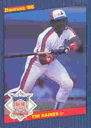 1986 Donruss All-Stars #20 Tim Raines
