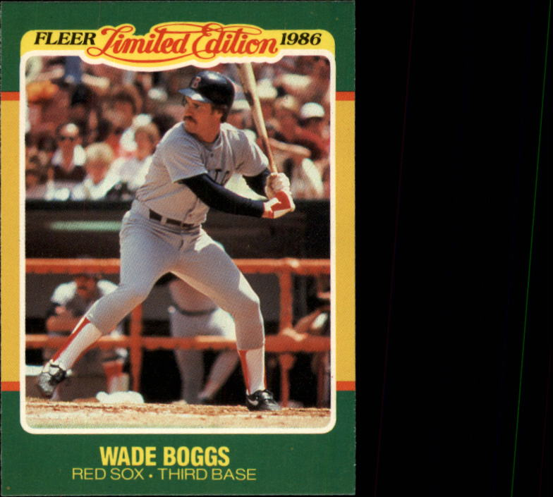 1986 Fleer Limited Edition #4 Wade Boggs