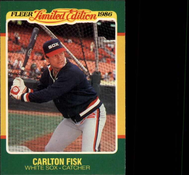 1986 Fleer Limited Edition #15 Carlton Fisk