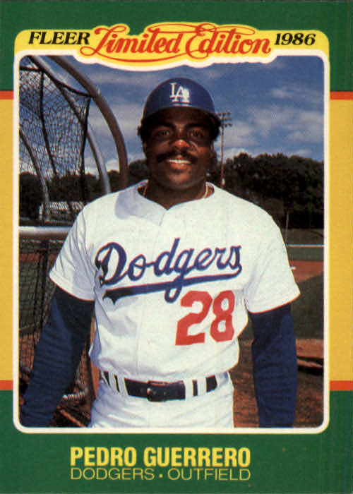 1986 Fleer Limited Edition #21 Pedro Guerrero