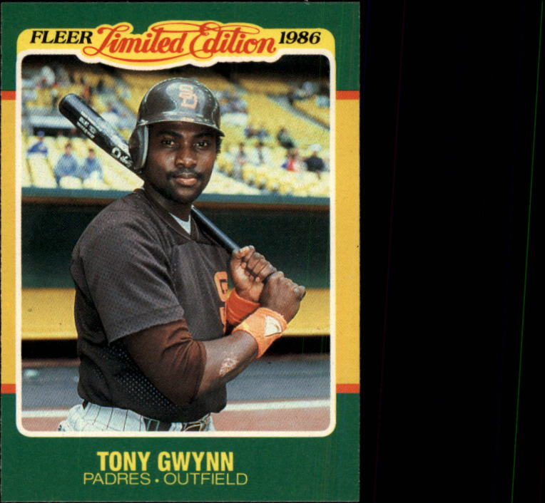 1986 Fleer Limited Edition #22 Tony Gwynn