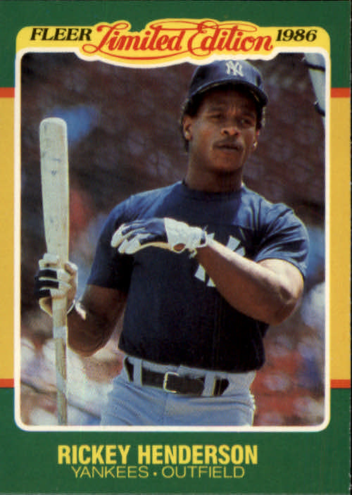1986 Fleer Limited Edition #23 Rickey Henderson