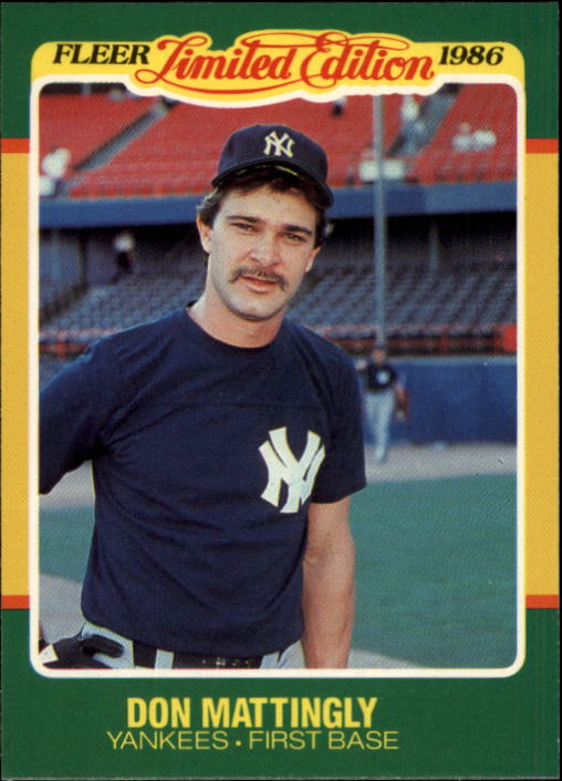 1986 Fleer Limited Edition #27 Don Mattingly