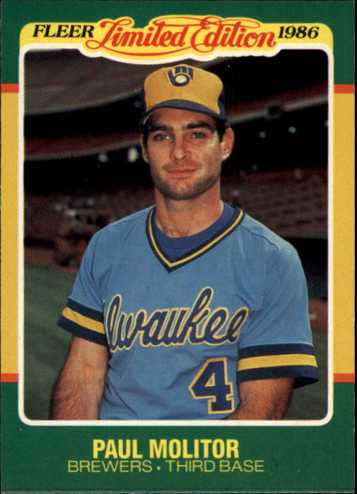 1986 Fleer Limited Edition #30 Paul Molitor