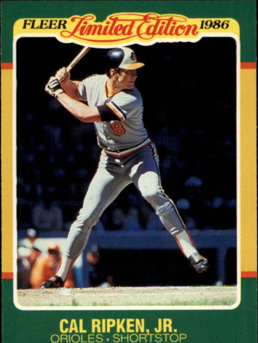1986 Fleer Limited Edition #36 Cal Ripken
