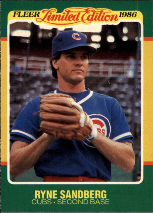 1986 Fleer Limited Edition #40 Ryne Sandberg