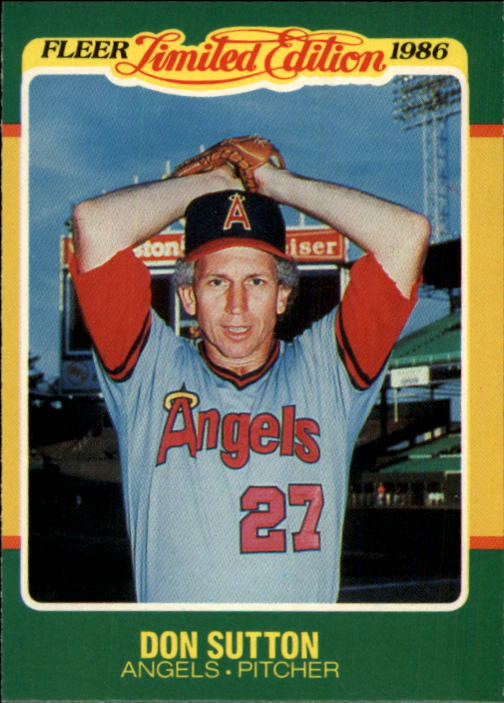 1986 Fleer Limited Edition #43 Don Sutton