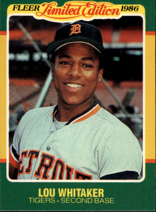 1986 Fleer Limited Edition #44 Lou Whitaker