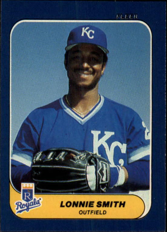 1986 Fleer Mini #4 Lonnie Smith