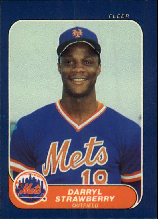 1986 Fleer Mini #21 Darryl Strawberry
