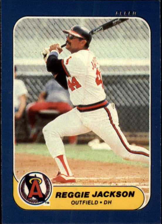 1986 Fleer Mini #32 Reggie Jackson