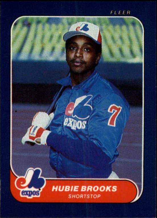 1986 Fleer Mini #52 Hubie Brooks