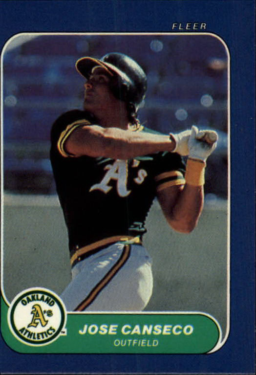 1986 Fleer Mini #87 Jose Canseco