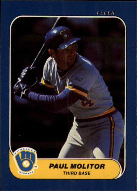 1986 Fleer Mini #101 Paul Molitor