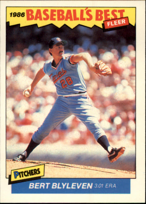 1986 Fleer Sluggers/Pitchers #1 Bert Blyleven