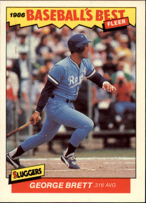 1986 Fleer Sluggers/Pitchers #3 George Brett