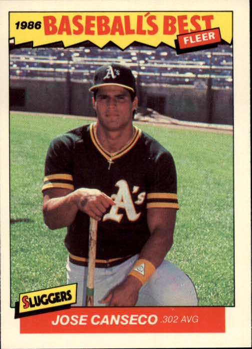 1986 Fleer Sluggers/Pitchers #5 Jose Canseco