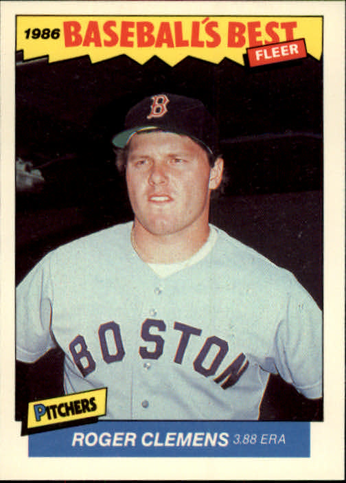 1986 Fleer Sluggers/Pitchers #7 Roger Clemens