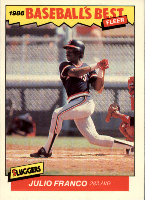 1986 Fleer Sluggers/Pitchers #9 Julio Franco
