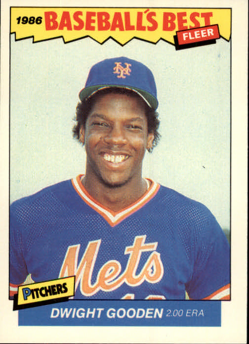 1986 Fleer Sluggers/Pitchers #11 Dwight Gooden