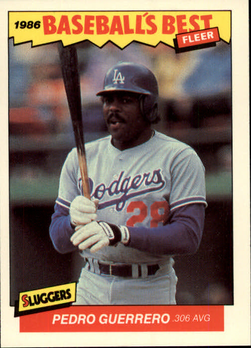 1986 Fleer Sluggers/Pitchers #13 Pedro Guerrero