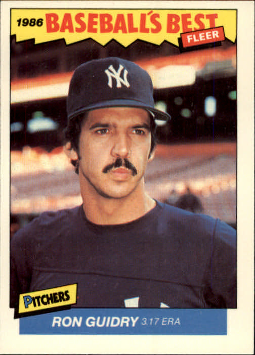 1986 Fleer Sluggers/Pitchers #14 Ron Guidry