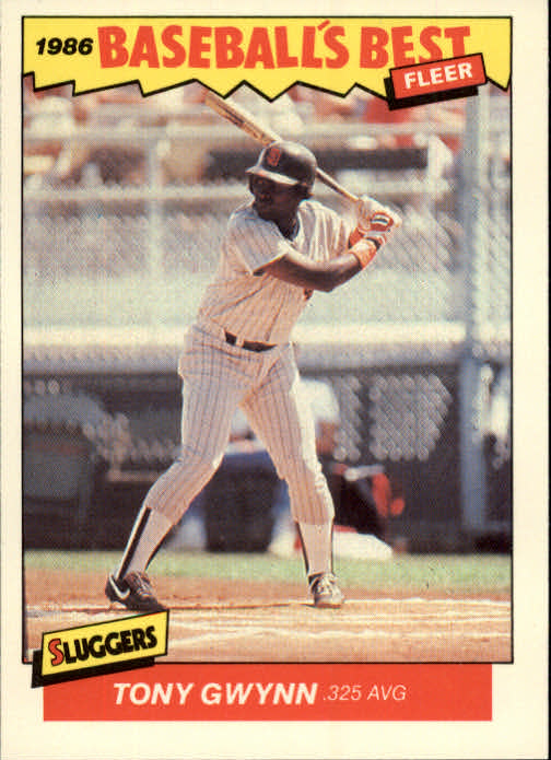 1986 Fleer Sluggers/Pitchers #15 Tony Gwynn