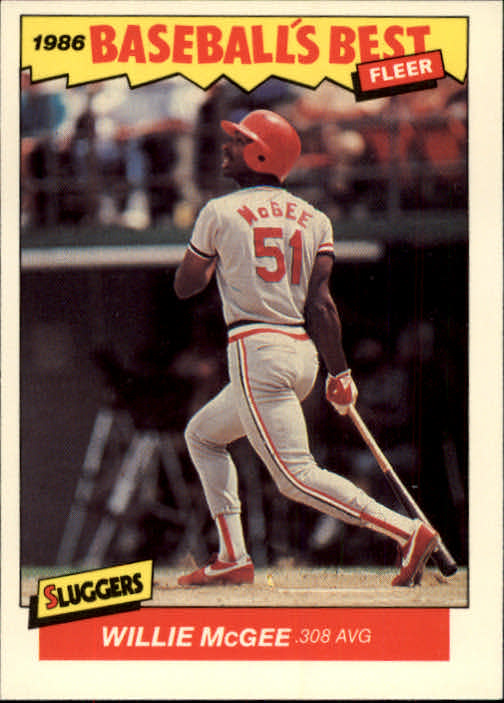 1986 Fleer Sluggers/Pitchers #22 Willie McGee