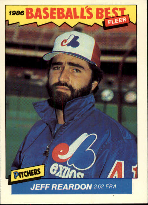 1986 Fleer Sluggers/Pitchers #26 Jeff Reardon