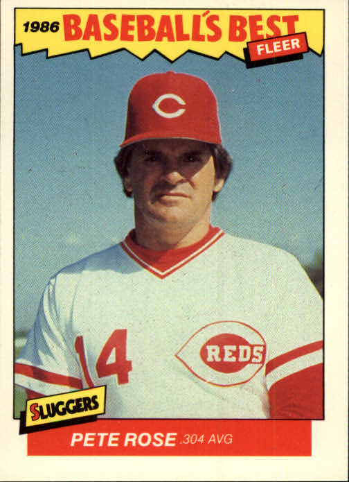 1986 Fleer Sluggers/Pitchers #29 Pete Rose