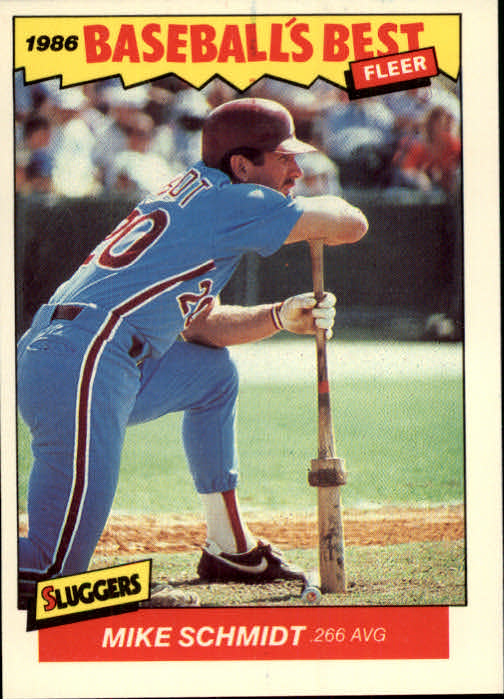 1986 Fleer Sluggers/Pitchers #33 Mike Schmidt