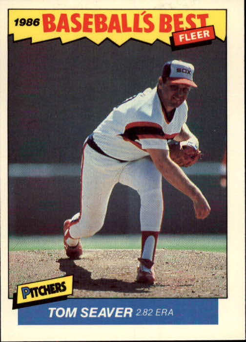 1986 Fleer Sluggers/Pitchers #34 Tom Seaver