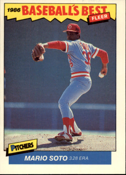 1986 Fleer Sluggers/Pitchers #36 Mario Soto