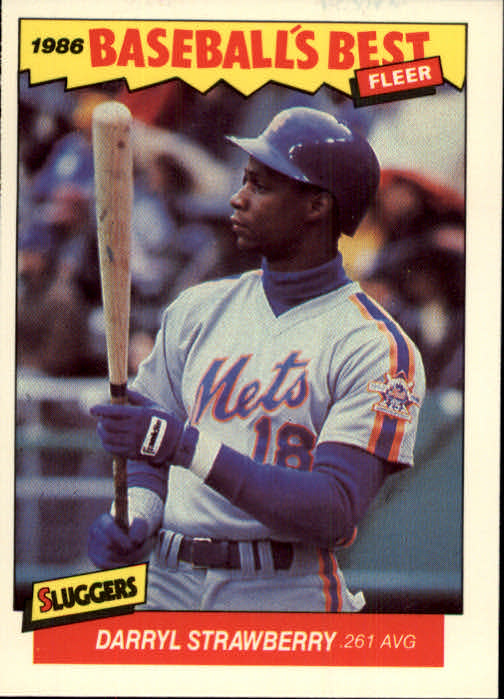1986 Fleer Sluggers/Pitchers #38 Darryl Strawberry