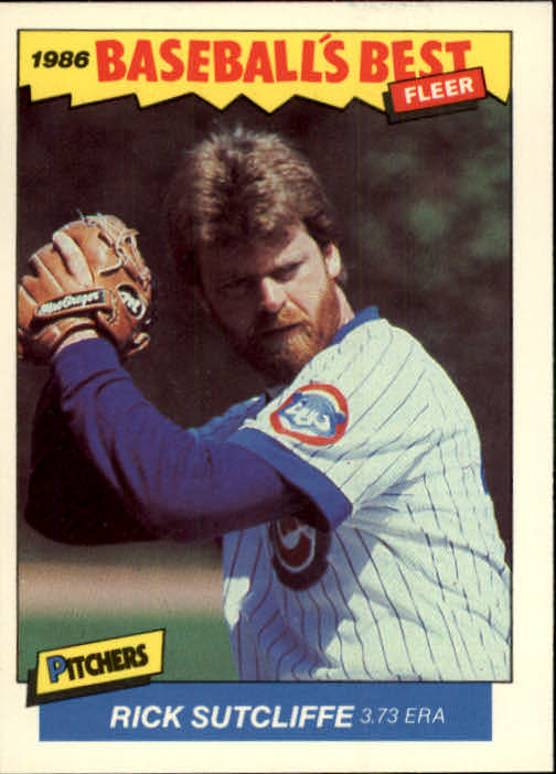 1986 Fleer Sluggers/Pitchers #39 Rick Sutcliffe