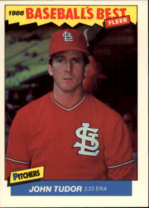 1986 Fleer Sluggers/Pitchers #40 John Tudor