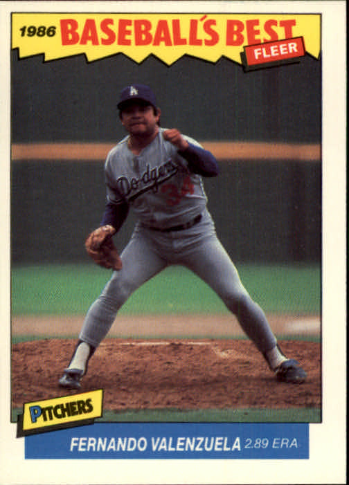 1986 Fleer Sluggers/Pitchers #41 Fernando Valenzuela