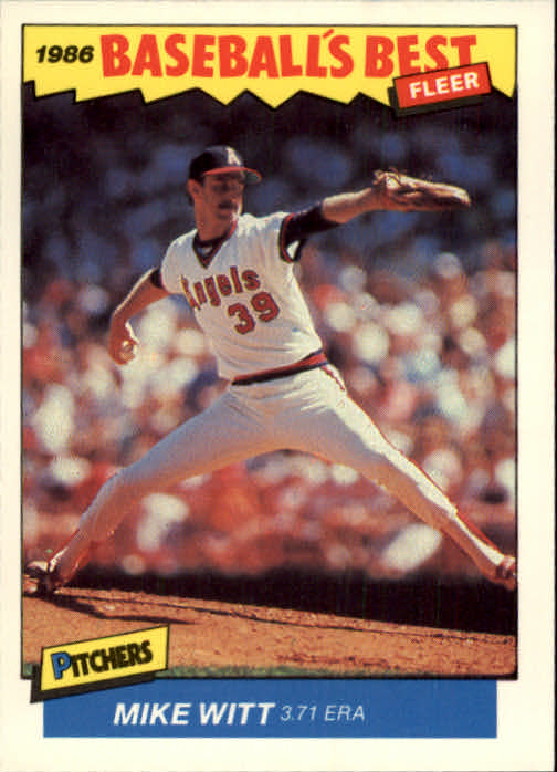 1986 Fleer Sluggers/Pitchers #43 Mike Witt