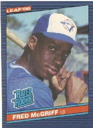 1986 Leaf/Donruss #28 Fred McGriff RR RC