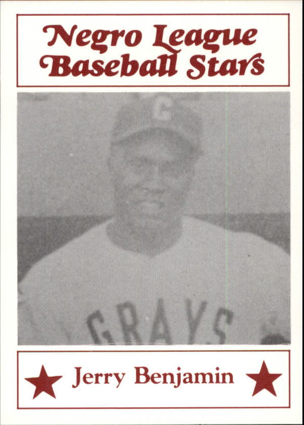 1986 Negro League Fritsch #82 Jerry Benjamin