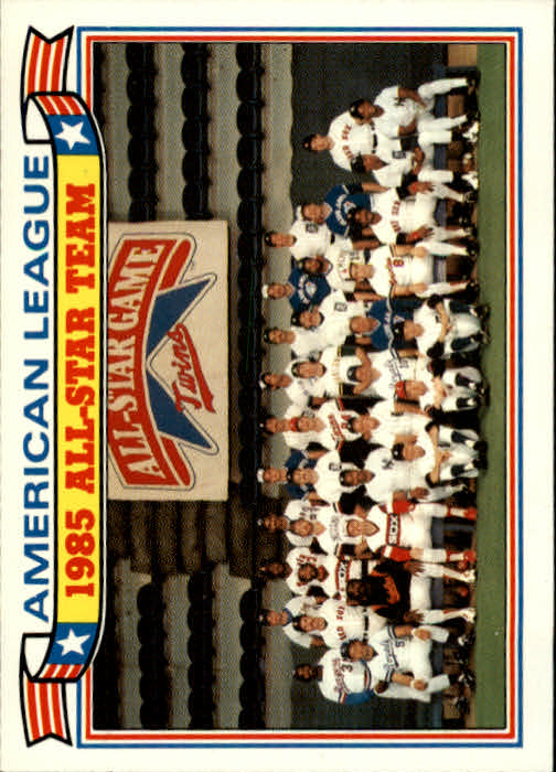 1986 Topps Glossy All-Stars #11 AL Team Photo