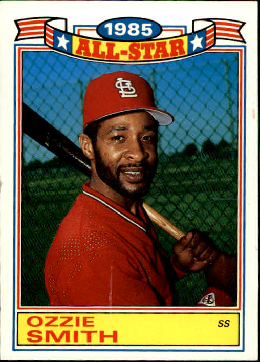 1986 Topps Glossy All-Stars #16 Ozzie Smith