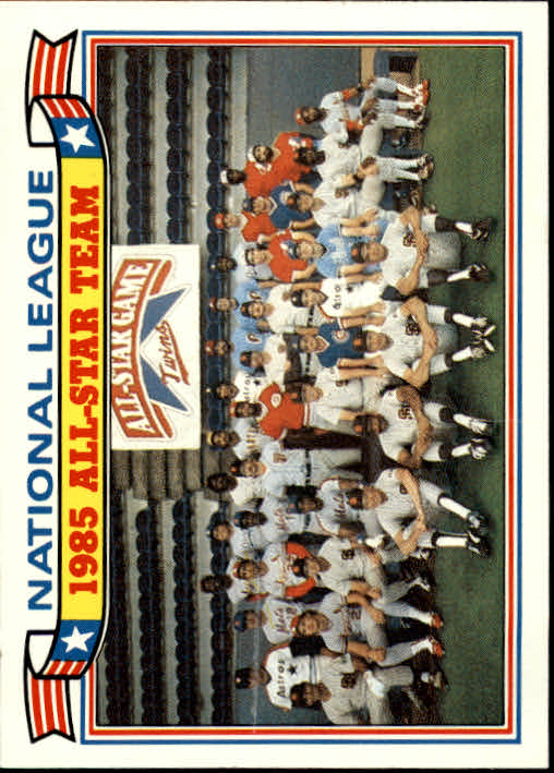 1986 Topps Glossy All-Stars #22 NL Team Photo