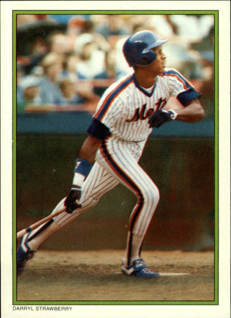1986 Topps Glossy Send-Ins #11 Darryl Strawberry