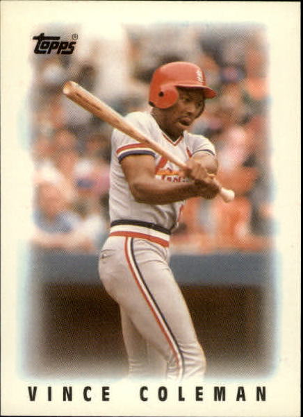 1986 Topps Mini Leaders #60 Vince Coleman