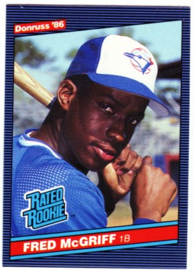 1986 Donruss #28 Fred McGriff RC front image