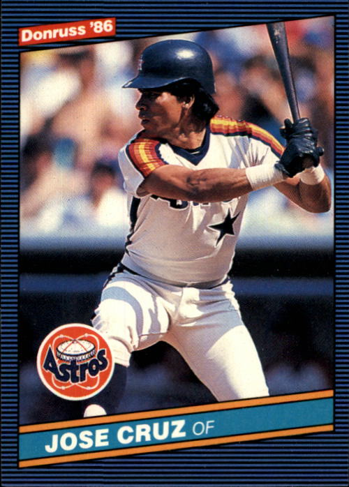 1986 Donruss #60 Jose Cruz